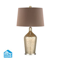 HGTV HOME Pershore 1 Light Table Lamp in Antique Gold Mercury With Polished Nickel HGTV355