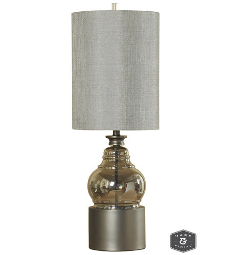 Harp and Finial Metal Table Lamps