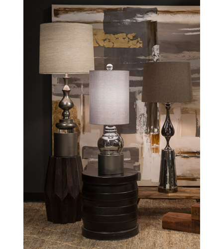 Harp and Finial HFL311569DS Cordoba 35 inch 100 watt Champagne Table Lamp Portable Light alternative photo thumbnail