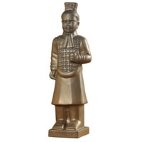 Harp and Finial HFA51094DS Qin Gold Matte Statue