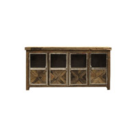 Ayers 80 X 18 inch Reclaimed Wood and Chrome Sideboard