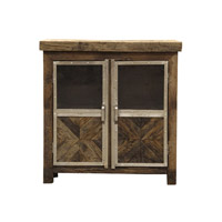 Ayers Reclaimed Wood and Chrome Cabinet