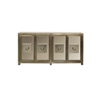 Andes 80 X 16 inch Silver Leaf Sideboard