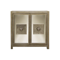 Harp and Finial HFF2304DS Andes Silver Leaf Cabinet