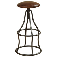 Harp and Finial HFF24434DS Churchill 33 inch Iron Swivel Stool