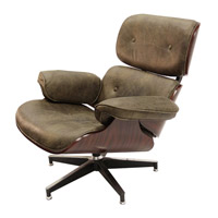 Wagner Black Iron Swivel Chair