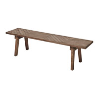 Harp and Finial HFF24823DS Mayne Sandblasted Greige Bench