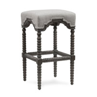 Harp and Finial HFF25024DS Inwood Weathered Gray Wood Chair