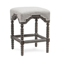 Harp and Finial HFF25025DS Inwood Weathered Gray Wood Chair