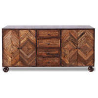 Corby 80 X 16 inch Dark Brown and Walnut Sideboard