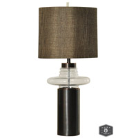 Harp and Finial HFL311566DS Prague 35 inch 150 watt Dark Brown Table Lamp Portable Light photo thumbnail