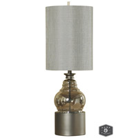 Harp and Finial HFL311569DS Cordoba 35 inch 100 watt Champagne Table Lamp Portable Light
