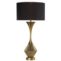 Harp and Finial Brass Table Lamps