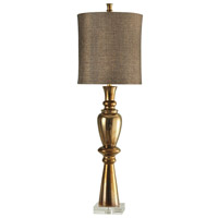 Harp and Finial HFL313010DS Hawthorne 49 inch 150 watt Gold Table Lamp Portable Light