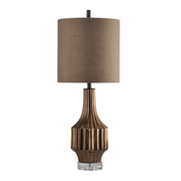 Harp and Finial HFL313661DS Hudson 38 inch 100 watt Copper Table Lamp Portable Light