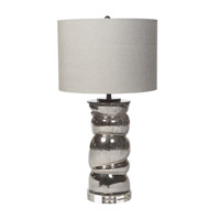 Harp and Finial HFL313663DS Cyprus 33 inch 150 watt Silver Table Lamp Portable Light