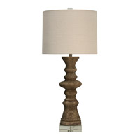 Harp and Finial HFL316555DS Alma 39 inch 150 watt Brown Table Lamp Portable Light