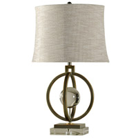 Harp and Finial HFL38058DS Paris 33 inch 150 watt Tin And Gold Table Lamp Portable Light