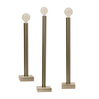 Harp and Finial HFL534401DS Barclay 38 inch 60 watt Brushed Nickel Gold Table Lamp Portable Light Set of 3