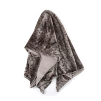 Harp and Finial HFS20084DS Ponca 70 X 50 inch Gray Throw