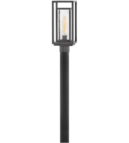 Hinkley 1001OZ Republic 1 Light 17 inch Oil Rubbed Bronze Outdoor Post Mount Lantern, Coastal Elements photo