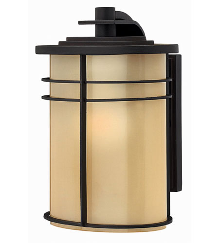 Hinkley Lighting Ledgewood 1 Light Outdoor Wall Lantern in Museum Bronze 1120MR-EST