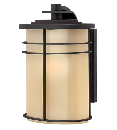 Hinkley Lighting Ledgewood 1 Light GU24 CFL Outdoor Wall in Museum Bronze 1120MR-GU24 photo
