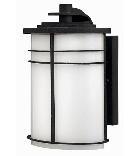Hinkley Lighting Ledgewood 1 Light Outdoor Wall Lantern in Vintage Black 1120VK-ES