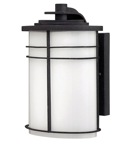 Hinkley Lighting Ledgewood 1 Light GU24 CFL Outdoor Wall in Vintage Black 1120VK-GU24 photo