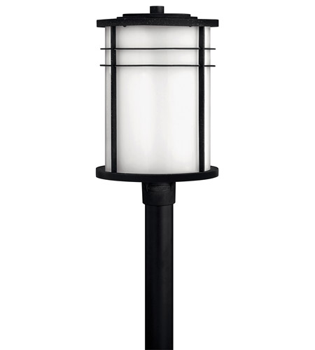 Hinkley Lighting Ledgewood 1 Light GU24 CFL Post Lantern (Post Sold Separately) in Vintage Black 1121VK-GU24 photo