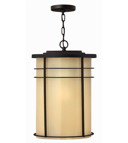 Hinkley Lighting Ledgewood 1 Light Outdoor Hanging Lantern in Museum Bronze 1122MR-ES