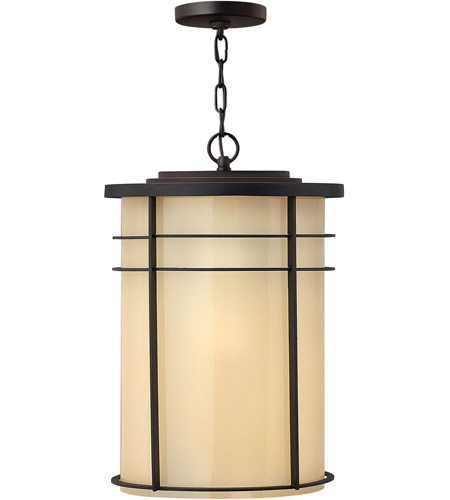 Hinkley Lighting Ledgewood 1 Light Outdoor Hanging Lantern in Museum Bronze 1122MR