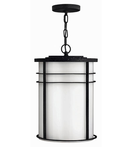 Hinkley Lighting Ledgewood 1 Light Outdoor Hanging Lantern in Vintage Black 1122VK-DS
