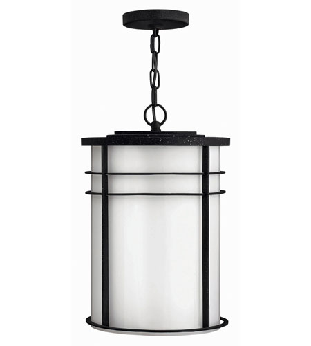 Hinkley Lighting Ledgewood 1 Light Outdoor Hanging Lantern in Vintage Black 1122VK-ES