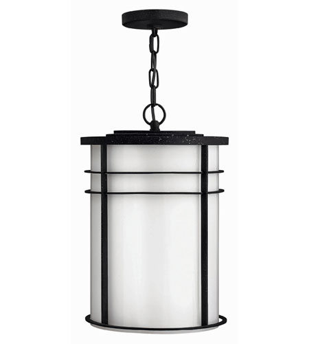 Hinkley Lighting Ledgewood 1 Light Outdoor Hanging Lantern in Vintage Black 1122VK-ESDS
