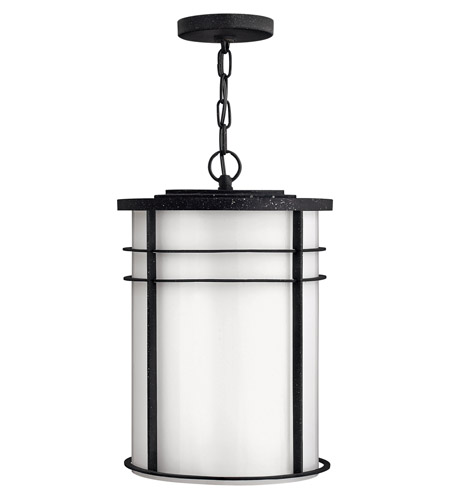 Hinkley Lighting Ledgewood 1 Light Outdoor Hanging Lantern in Vintage Black 1122VK