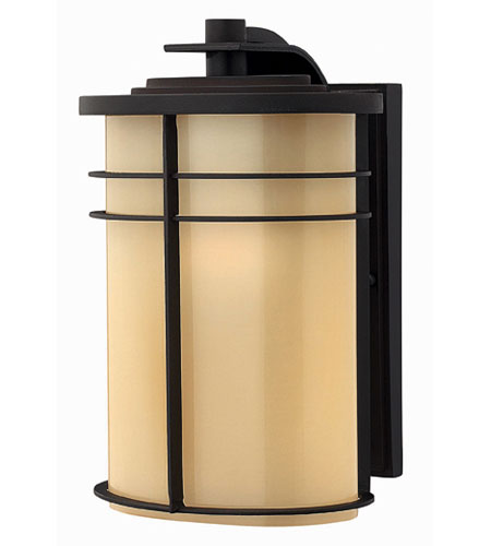 Hinkley Lighting Ledgewood 1 Light Outdoor Wall Lantern in Museum Bronze 1124MR-EST