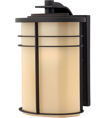 Hinkley 1124MR Ledgewood 1 Light 12 inch Museum Bronze Outdoor Wall Lantern in Champagne Inside-Etched, Incandescent photo