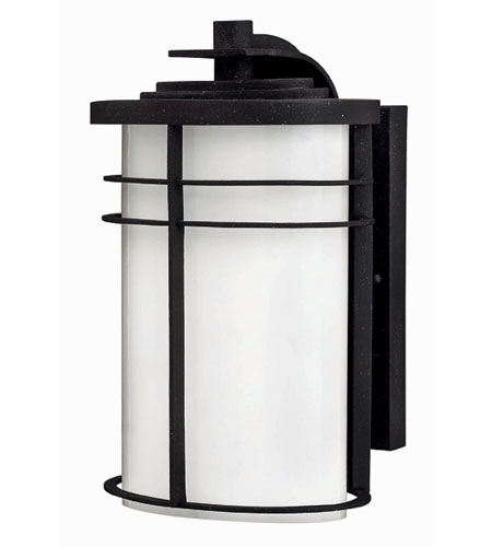 Hinkley Lighting Ledgewood 1 Light Outdoor Wall Lantern in Vintage Black 1124VK-ES
