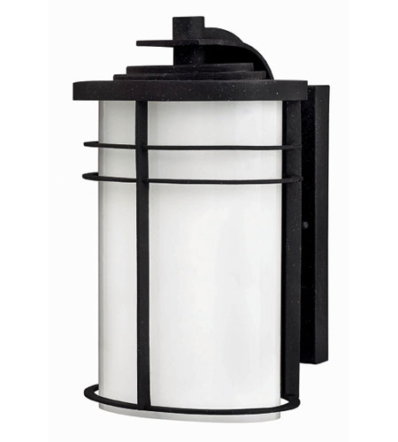Hinkley Lighting Ledgewood 1 Light Outdoor Wall Lantern in Vintage Black 1124VK-EST