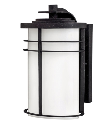 Hinkley Lighting Ledgewood 1 Light GU24 CFL Outdoor Wall in Vintage Black 1124VK-GU24 photo