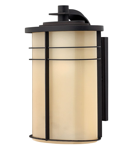 Hinkley Lighting Ledgewood 1 Light GU24 CFL Outdoor Wall in Museum Bronze 1125MR-GU24