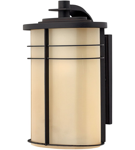 Hinkley 1125MR Ledgewood 1 Light 16 inch Museum Bronze Outdoor Wall Lantern in Champagne Inside-Etched, Incandescent photo