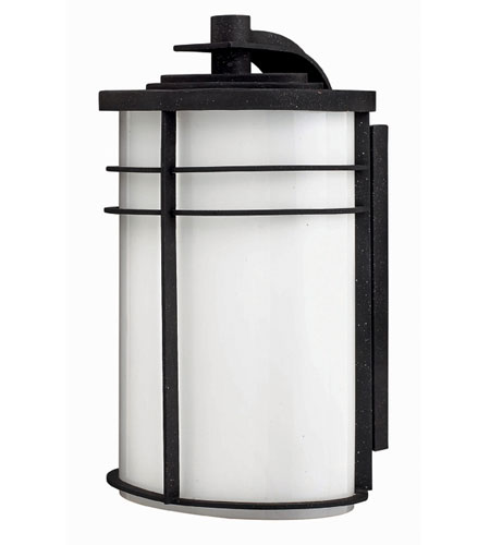 Hinkley Lighting Ledgewood 1 Light Outdoor Wall Lantern in Vintage Black 1125VK-EST