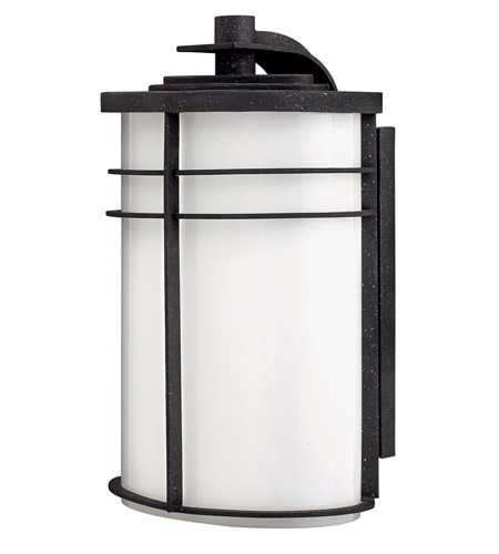 Hinkley 1125VK-GU24 Ledgewood 1 Light 16 inch Vintage Black Outdoor Wall in Cased Opal, GU24 photo