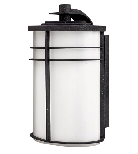 Hinkley Lighting Ledgewood 1 Light Outdoor Wall Lantern in Vintage Black 1125VK