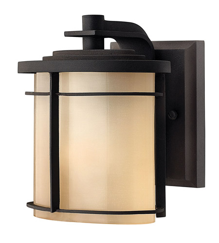 Hinkley 1126MR-GU24 Ledgewood 1 Light 7 inch Museum Bronze Outdoor Wall in Champagne Inside-Etched, GU24 photo