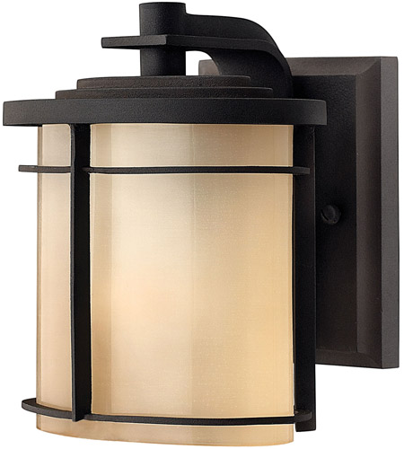 Hinkley 1126MR Ledgewood 1 Light 7 inch Museum Bronze Outdoor Wall Lantern in Champagne Inside-Etched, Incandescent photo