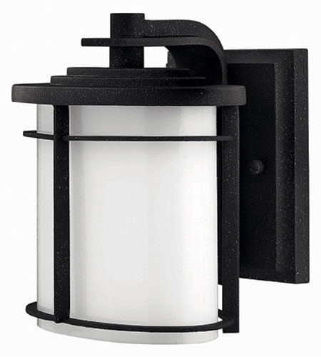 Hinkley Lighting Ledgewood 1 Light Outdoor Wall Lantern in Vintage Black 1126VK-ES