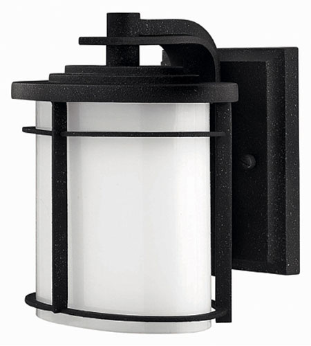 Hinkley Lighting Ledgewood 1 Light Outdoor Wall Lantern in Vintage Black 1126VK-EST